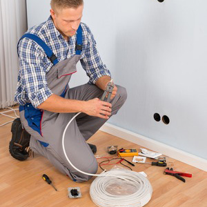 Electrician on the ground