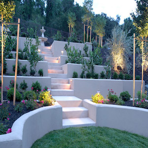 Garden lighting installation