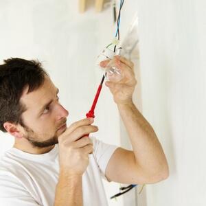 Electrician rewiring