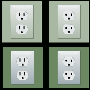 4 different electrical sockets