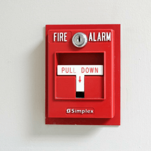 Pull down fire alam