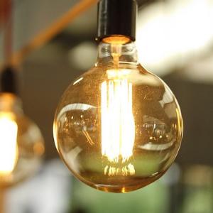 A lightbulb filament